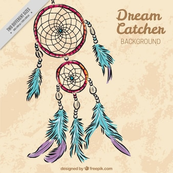 Beautiful hand drawn dreamcatcher