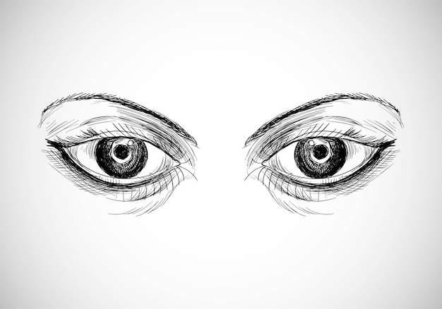 Beautiful hand drawn eyes sketch design