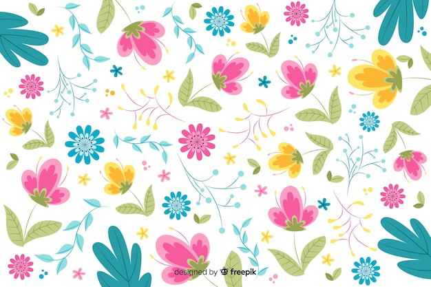 Beautiful hand drawn floral background