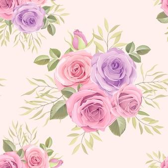 Красивая рука нарисованные цветочный фон