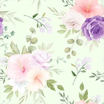 Beautiful hand drawn floral seamless pattern