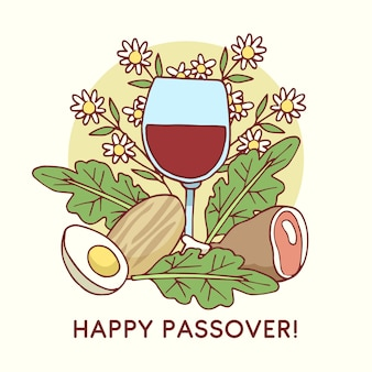 Beautiful hand drawn passover