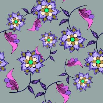 美しい手描きのシームレスなパターン