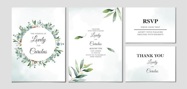 Красивый рисованный шаблон свадебной открытки