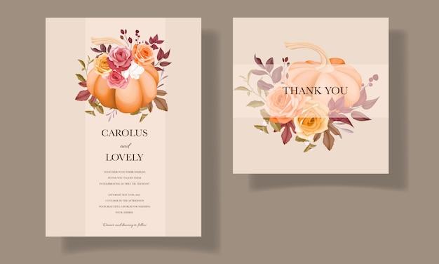 아름 다운 손으로 그린 된 결혼식 초대 카드 서식 파일