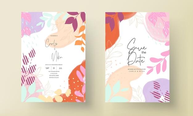 美しい手描きの結婚式の招待状