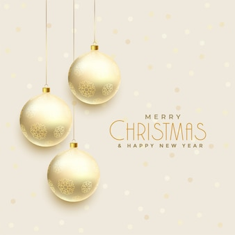 Beautiful hanging christmas balls background