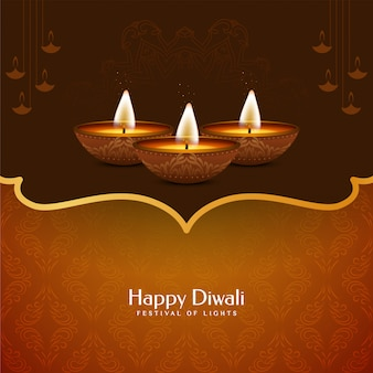 Beautiful happy diwali decorative background design