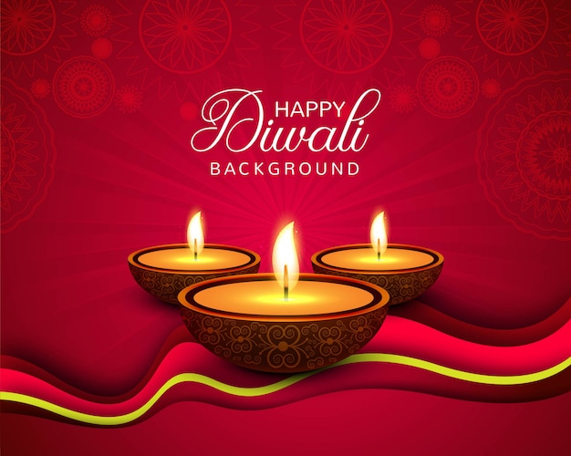 Beautiful happy diwali decorative background