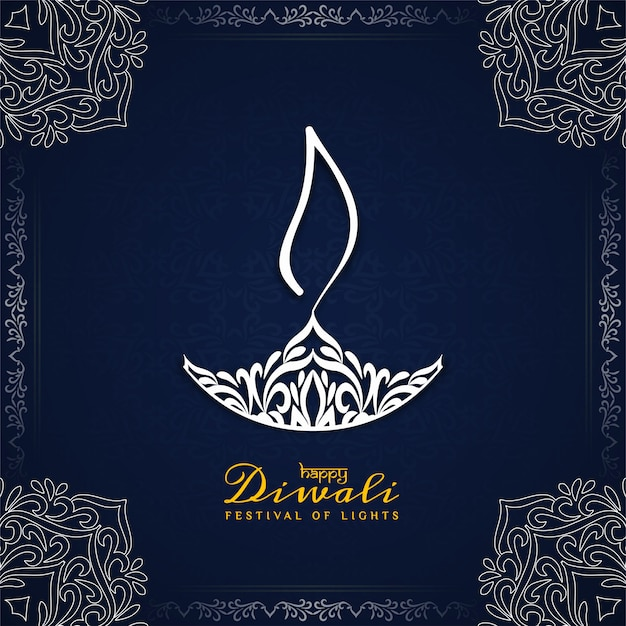 Beautiful happy diwali decorative ethnic background