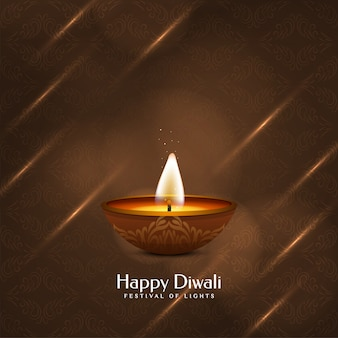 Beautiful happy diwali decorative
