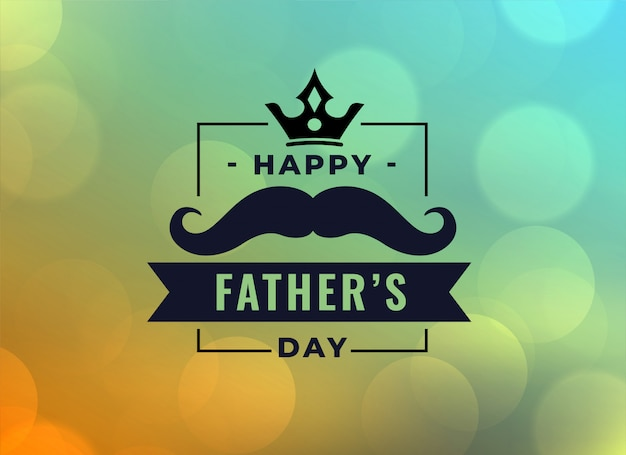 Beautiful happy fathers day card