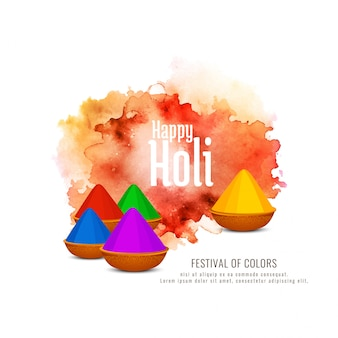 Beautiful happy holi celebration background