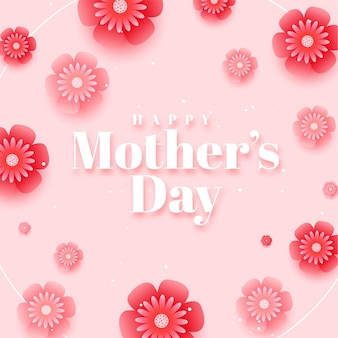 Beautiful happy mothers day background design