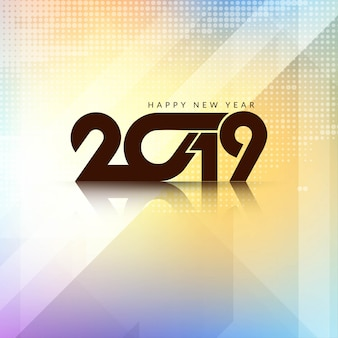 Beautiful Happy New Year 2019 background design
