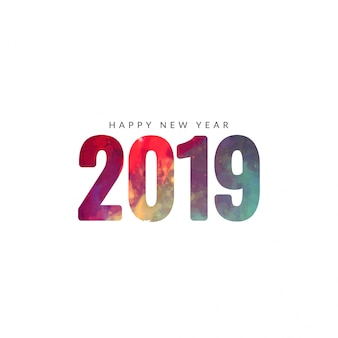 Beautiful happy new year 2019 background