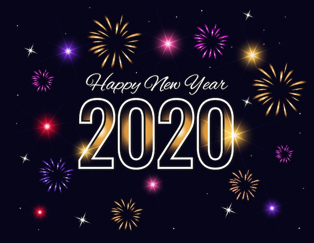 Beautiful happy new year 2020 background