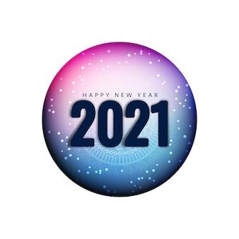 Bellissimo sfondo di saluto di felice anno nuovo 2021