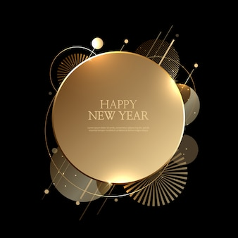 Beautiful happy new year background