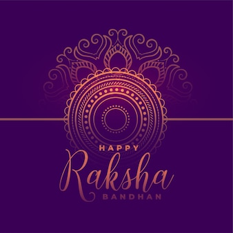 Beautiful happy raksha bandhan festival card traditional