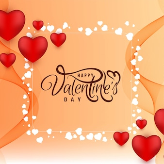 Beautiful happy valentine's day background design