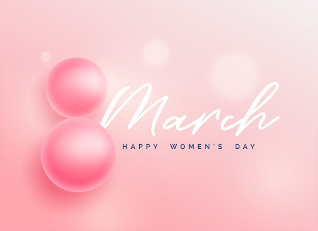 Beautiful happy women's day background