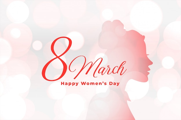 Beautiful happy womens day elegant bokeh background