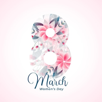 Beautiful happy womens day event card wishes