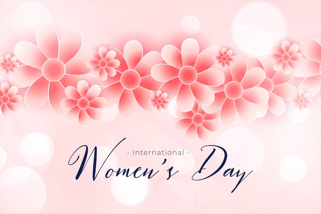 Beautiful happy womens day flower background