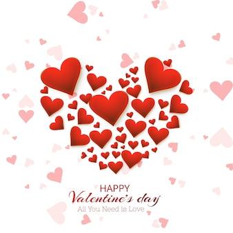 아름 다운 마음 발렌타인 카드 디자인