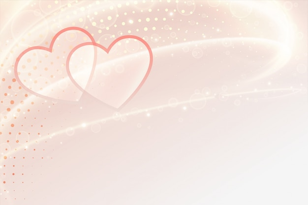 Beautiful hearts banner with text space for valentines day