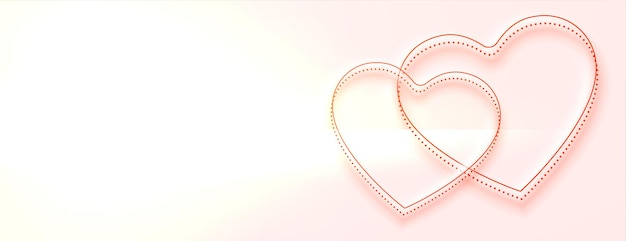 Beautiful hearts banner with text space