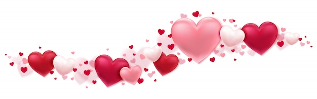 Beautiful hearts in motion