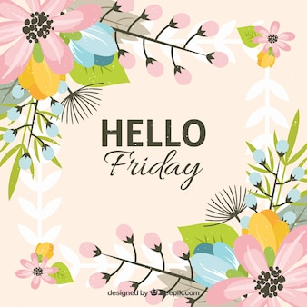 Beautiful hello friday background