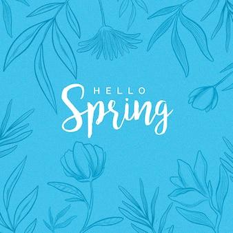 Beautiful hello spring
