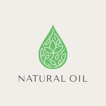 Beautiful herbal droplet  for skin care logos