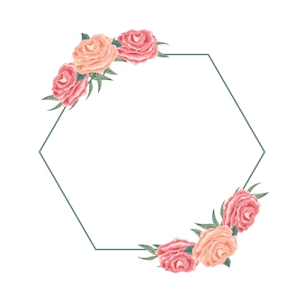 Beautiful hexagon floral arrangement for dedication