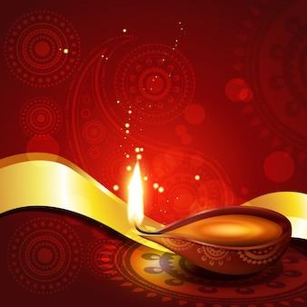 Beautiful hindu diwali diya festival background