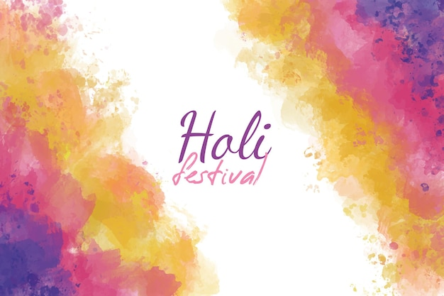 Beautiful holi festival watercolor background