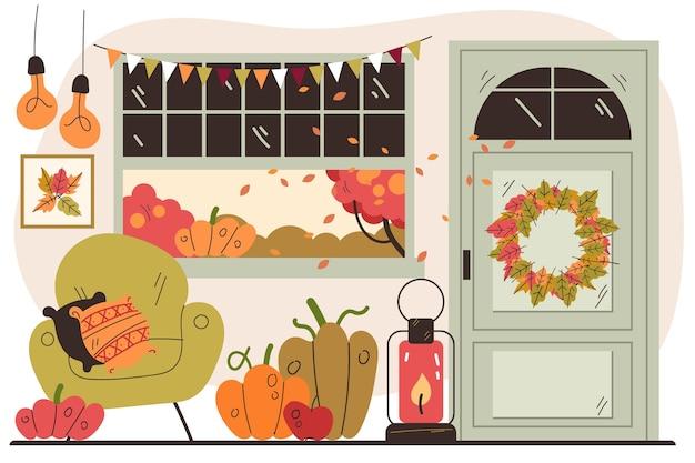 가을에서 영감을 받은 아름다운 집 인테리어