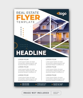 A beautiful home for sale real estate flyer template or cover