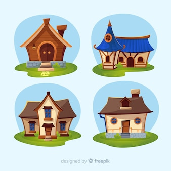 Beautiful houses set