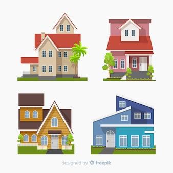 Beautiful houses set