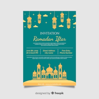 Beautiful iftar invitation template