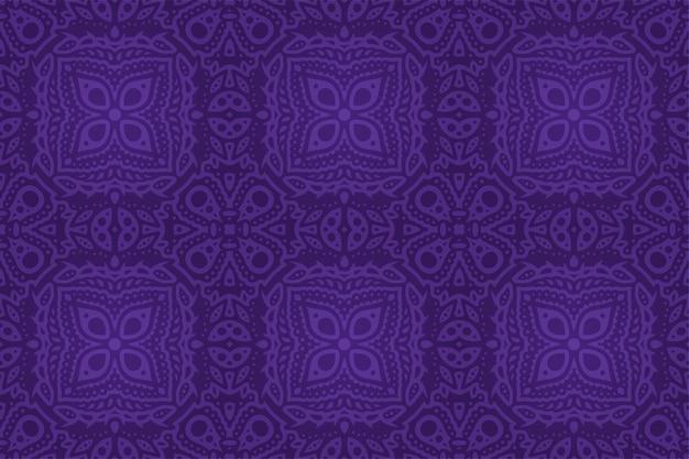 抽象的なカラフルな紫の東のタイルのシームレスなパターンと美しいイラスト