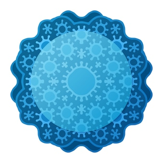 青い医療パターンと白い背景で隔離のコピースペースと美しいイラスト