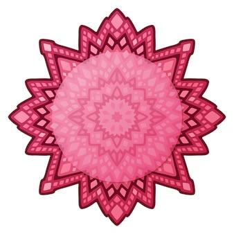 白ピンクの幾何学的な抽象的なパターンとコピースペースの美しいイラスト