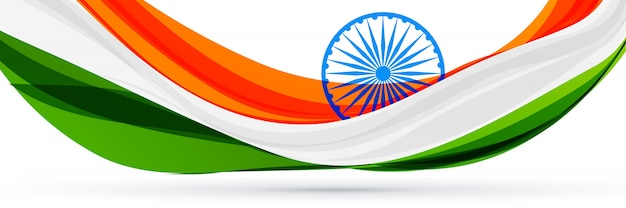 Beautiful indian flag design in creative style
