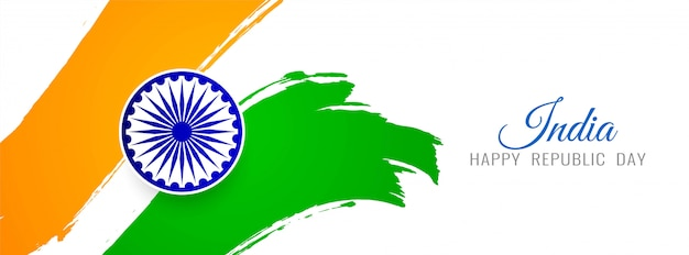Beautiful indian flag theme banner
