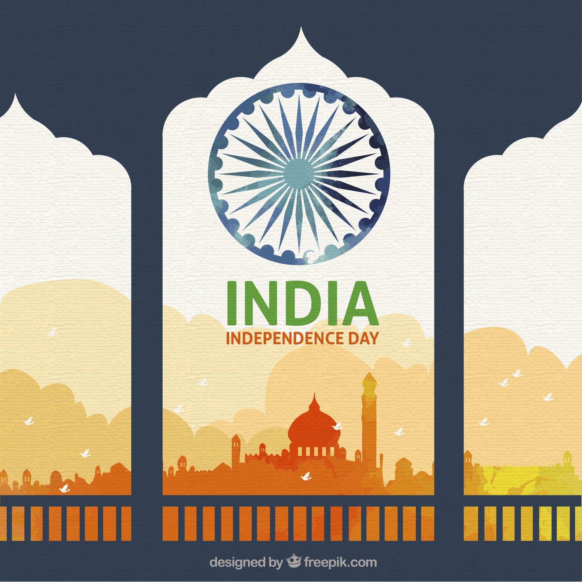 Beautiful indian independence day background